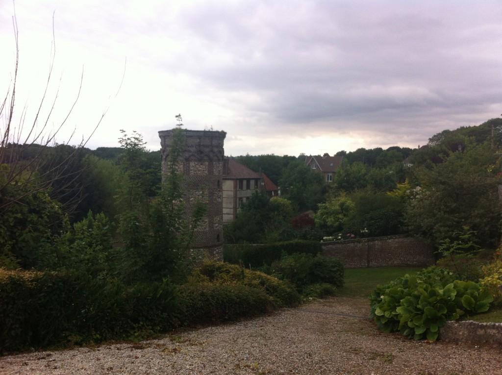 De tuin van de Auberge