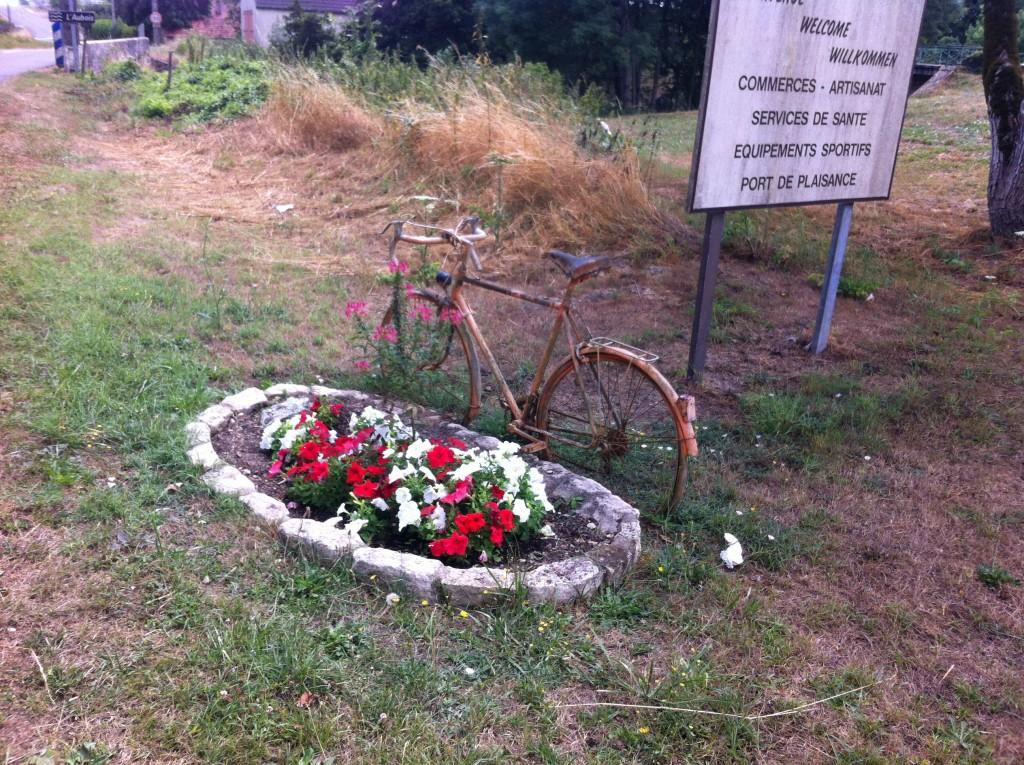 Monument voor een fietser