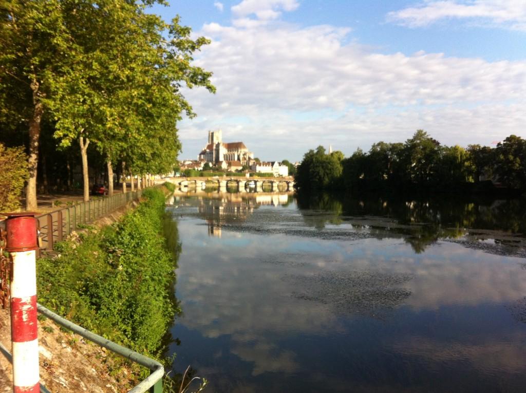 Auxerre in de ochtend