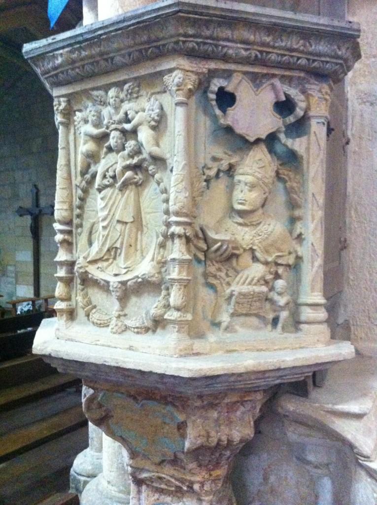 Preekstoel in de Notre Dame d'Avioth